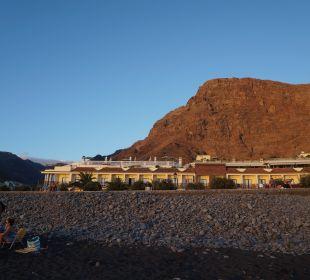 Hotel vom Strand aus Hotel Gran Rey