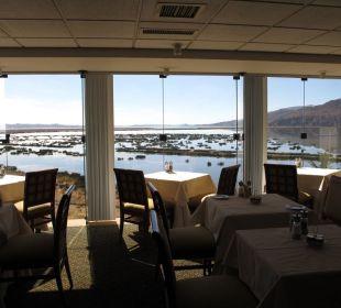 Blick vom Restaurant auf den Titicaca-See Hotel Libertador Lago Titicaca
