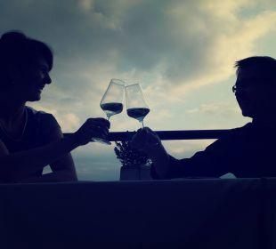 Aperitifempfang auf der Terrasse Genusshotel Der Weinmesser