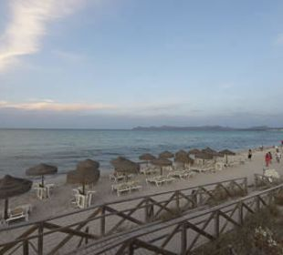 Playa de Muro am Abend allsun Hotel Eden Playa
