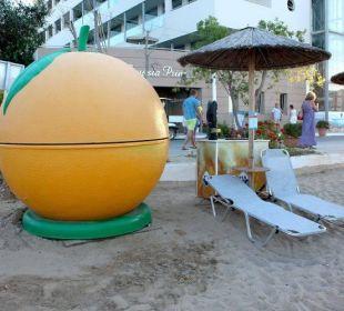 Strandbar meistens geschlossen. Hotel Corissia Princess