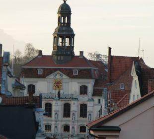 Blick aus der Suite zum Rathaus / Weihnachtsmarkt Romantik Hotel Bergström