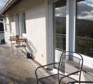 Balkon Ferienwohnung Schau Rhein