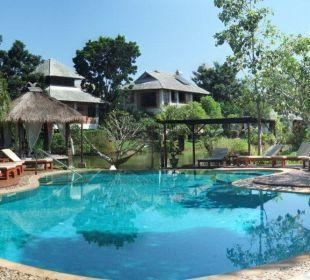 Vom Restaurant Richtung Pool Hotel Baan Chai Thung