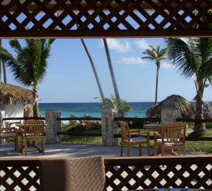 Ausblick beim Frühstück/Mittag VIK Hotel Cayena Beach Club