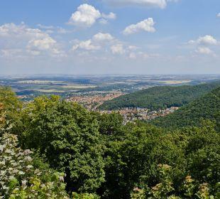Fontaneblick im Sommer AKZENT Berghotel Rosstrappe