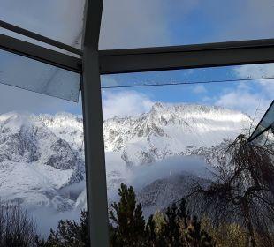 Blick aus dem Wellnessbereich, herrlich Kaysers Tirolresort