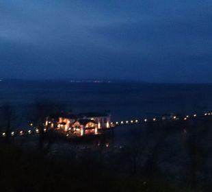 Ausblick am Abend Hotel Bernstein Rügen