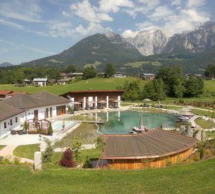 Naturbadessee mit Rundumbergblick Wellnesshotel Zechmeisterlehen