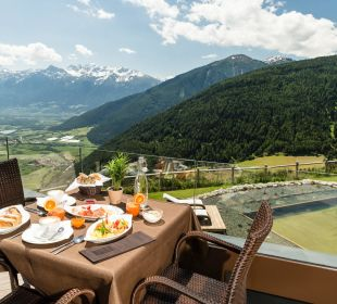 Früstück auf unserer Terrasse Alpin & Relax Hotel Das Gerstl