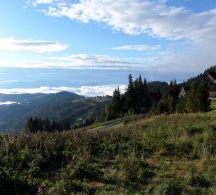 Blick ins Tal Almhütten Moselebauer