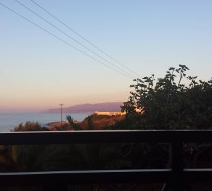 Sonnenaufgang von der Restaurantterrasse gesehen Hotel King Minos Palace