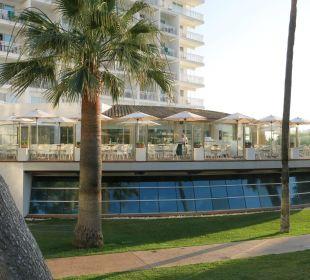 Terrasse für Frühstück / Abendessen Hotel Playa Esperanza