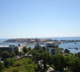 Ausblick von der Dachterrasse auf Nessebar Hotel Sol Marina Palace