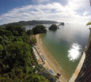 Blick vom der Fahrstuhl Brücke Grand Bahia Principe Cayacoa