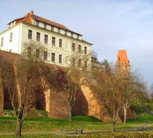 Schloss im Abendlicht Ringhotel Schloss Tangermünde