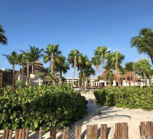 Blick vom Strand zum Pool Secrets Maroma Beach Riviera Cancun