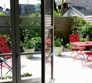 Terrasse Privative Pavillon B&B Aux Rives de Honfleur