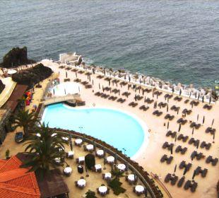 Blick auf Lift zur unteren Ebene Hotel The Cliff Bay (PortoBay)