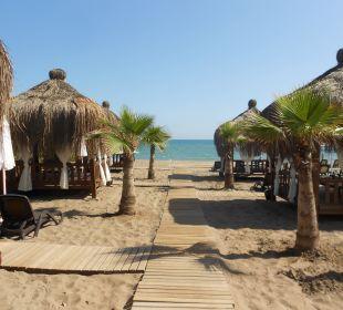 Holzstege führen direkt ins Meer Gloria Verde Resort
