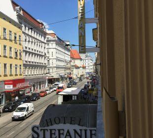 Aus unserem Fenster fotogr. Hotel Stefanie