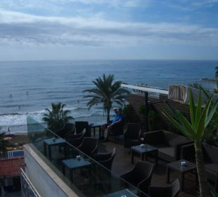Dachterrasse mit Blick aufs Meer Hotel Platjador