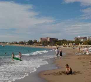 Blick auf den Strand Kirman Leodikya Resort