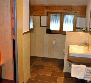 Badezimmer mit Wärmekabine Gästehaus Schwemmbauer