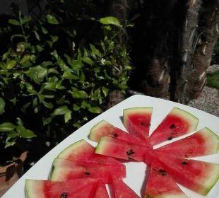 Frische Wassermelone am Pool Hotel Hanswirt