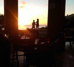 Sonnenuntergang von der Aussenterrasse Teneguia Princess