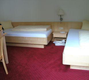 Kinderzimmer vom Familienzimmer Hotel Silbertal