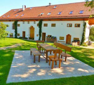 Sitzplatz im Garten Ferienwohnungen Hagerhof Hotel Hagerhof