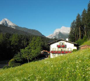 Landhaus Degen mit Watzmann und Hochkalter Landhaus Degen
