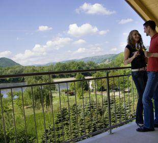 Doppelzimmer Smaragd Balkon - Ausblick Gartenhotel Pfeffel