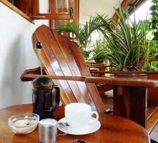 Kaffee auf der Veranda