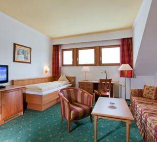 """Wohnbereich Suite """"Valluga"""" Hotel Post"""
