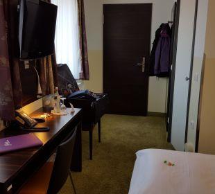 Blick zur Tür Hotel Arooma