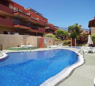 Aussicht auf Poolanlage Aparthotel El Cerrito