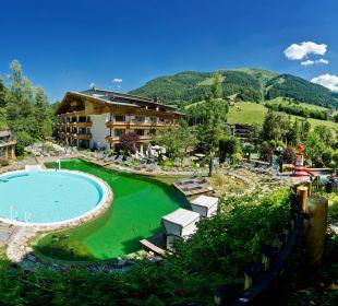 Schwimmbad, Whirlpool, Bio-Naturschwimmteich Gartenhotel THERESIA