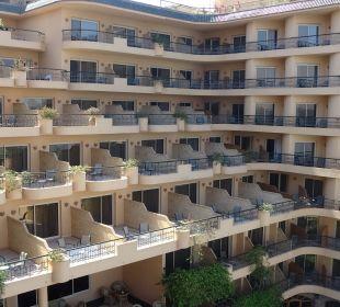 Hotel von hinten Steigenberger Hotel Nile Palace