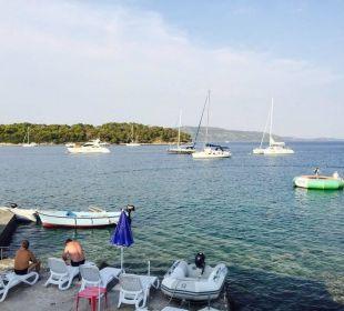 Strandsteg, Kai und Wassertrampolin Baroni Pension Villa Baroni