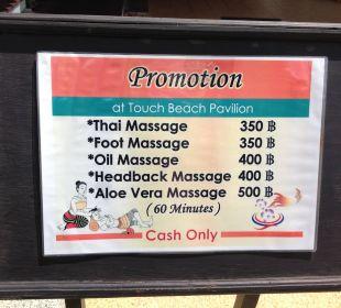 Thai-Massage  Hotel Mukdara Beach Villa & Spa Resort