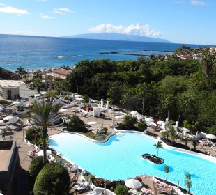 Blick von unserer Terrasse, ungeheizter Pool Gran Tacande Wellness & Relax Costa Adeje