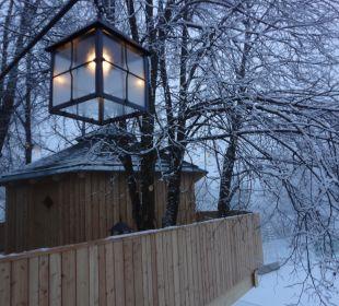 Baumhaus Sauna - Abendstimmung Hotel Die Post