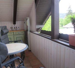 Der große Balkon Wohnung 3  Ferienwohnungen Rebstöckle
