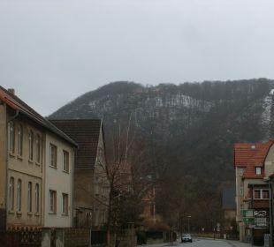 Hotellage hoch oben auf dem Berg AKZENT Berghotel Rosstrappe