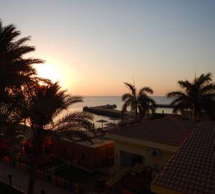 Sonnenaufgang vom Balkon gesehen