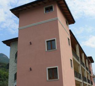 Blick auf die Residence von hinten Residenza Le Due Torri