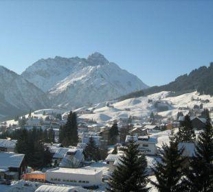 Blick vom Balkon Sporthotel Walliser