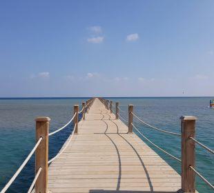 Steg über das Korallenriff ans Meer